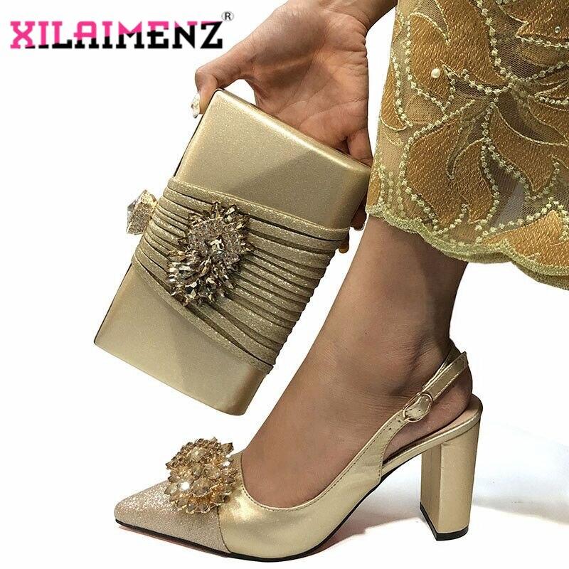 Image 2 - Mulher de alta Qualidade Sapatos De Cristal De Luxo E Bolsa de  Conjunto Para O Partido Nigeriano Sapatos Combinando Saco De sapatos de  Salto Alto Sapatos de Casamento E saco ConjuntoSapatos femininos   -