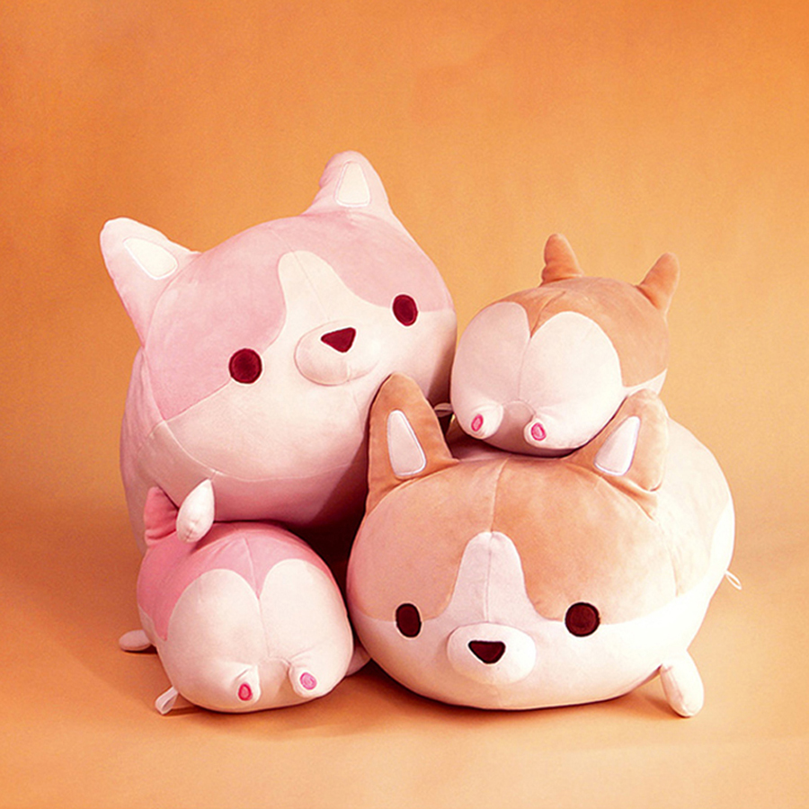 Cute Plush Toy Corgi Stuffed Animal Pillows Cute Cushions Knuffel Baby Doll Brinquedo Menina Christmas Gifts For Kids 60G0655 super cute plush toy dog doll as a christmas gift for children s home decoration 20