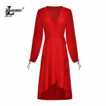 Lei SAGLY Fashion Women Long SLeeve Summer Dress High Quality Chiffon 2019