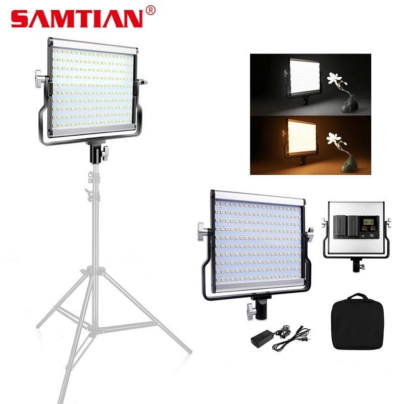 SAMTIAN L4500 LED Video Light 200PCS LED Panel Light Dimmable 3200K-5600K For Studio Photographic Lighting Video Photo 480 led video light studio lighting lamp 3200k 5600k professional photographic lighting set ge 500