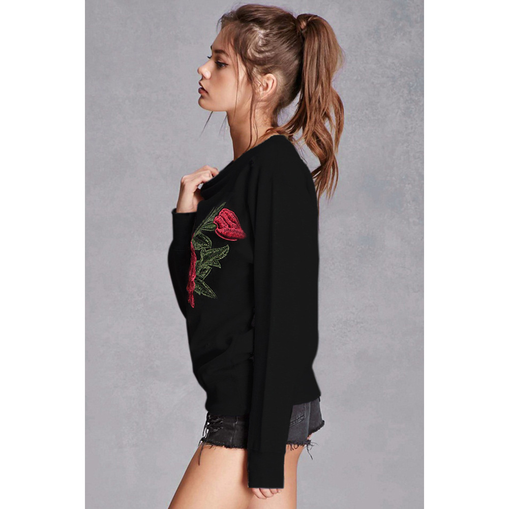 HTB1lqjdSFXXXXc6XVXXq6xXFXXX7 - Floral Rose Embroidery Hoodie PTC 136