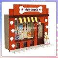 13505 Pet Paraíso Europeu loja loja casa de bonecas de madeira diy Casa De Bonecas Em Miniatura frete grátis