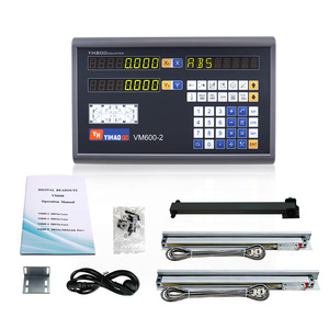 Image 3 - Complete 2 Axis Big LCD Digital Readout  Dro Set Kit and 2 PCS 5U Linear Glass Scale Linear Optical Ruler for Mill Lathe Machine
