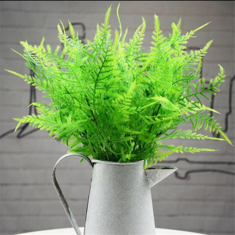 100 pièces artificielle verdure Simulation asperges vert herbe pour maison mariage vert mur décoration