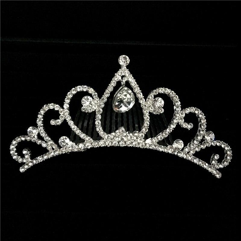 6pcs/lot Gorgeous Mini Crystal Rhinestone Diamante Bridal Princess Crown Hair Comb Tuck Tiara Ball Party Wedding