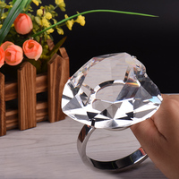 Fashion Wedding Decorations Heart Shaped Crystal Big Diamond Ring Romantic Proposal Props Home Accessories Party Glass Gifts