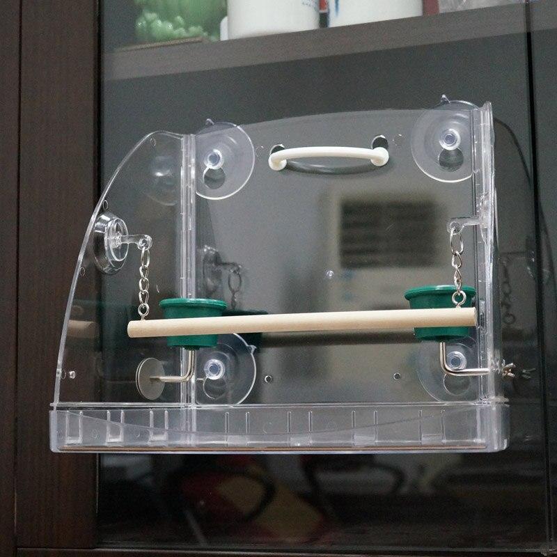 CAITEC perroquet jouet oiseau fenêtre jeu Center ouvert conception dure Durable morsure résistant adapté aux petits oiseaux perroquets - 5