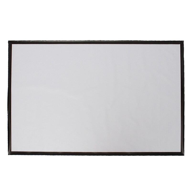 100 inch 16:9 נייד מקרן אביזרי פלסטיק מט לבן עבור קיר רכוב מסך הקרנת קולנוע ביתי בר