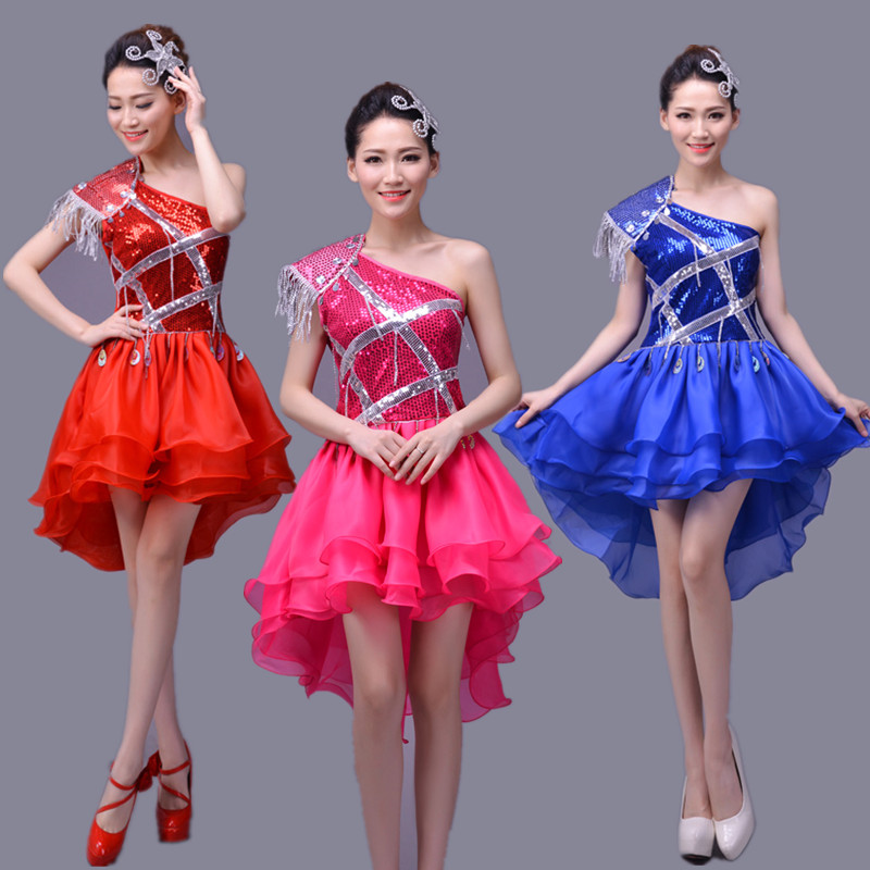 Sequins Female Suits Festival Modern Jazz Dance DS Stage Costume Singer Team Dancer Prom Show Performance Clothing