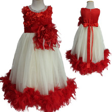 Мода высокое качество дизайнер день рождения платье для 2 до 7 лет девочки вечерние платья для партии и свадьбы