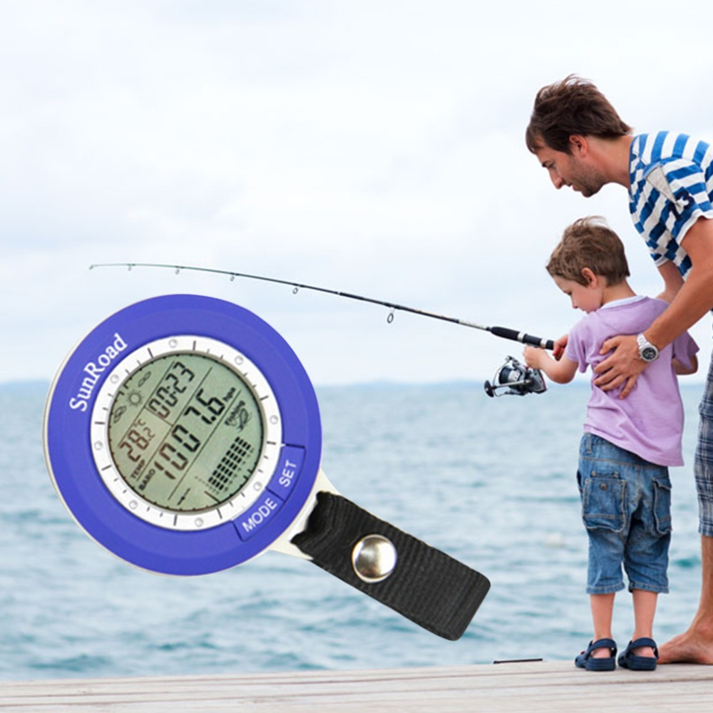 IPX 4 barómetro de pesca impermeable Multi-función LCD Digital al aire libre barómetro de pesca altímetro termómetro temporizador tiempo