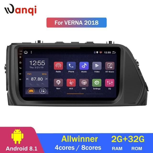 2G RAM 32G ROM 9 polegada Para Hyundai Verna 2018 android 8.1 car multimedia sistema de navegação GPS com RDS