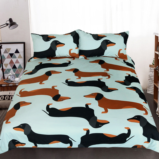Bedding Set Cute Dachshund Duvet Cover