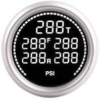 7 Color Bar PSI Air Suspension Pressure Gauge Air Ride Gauge + 5pcs 1/8NPT Electrical Sensors 2Inch 52mm kit turbo boost gauge