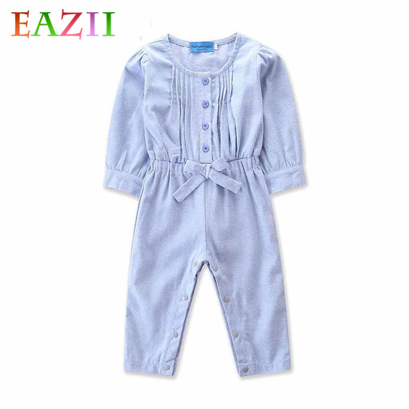 EAZII Brand Fashion Newborn Toddler Infant Baby Boys Romper Long Sleeve Jumpsuit Playsuit Little Boy Outfits Denim Clothes