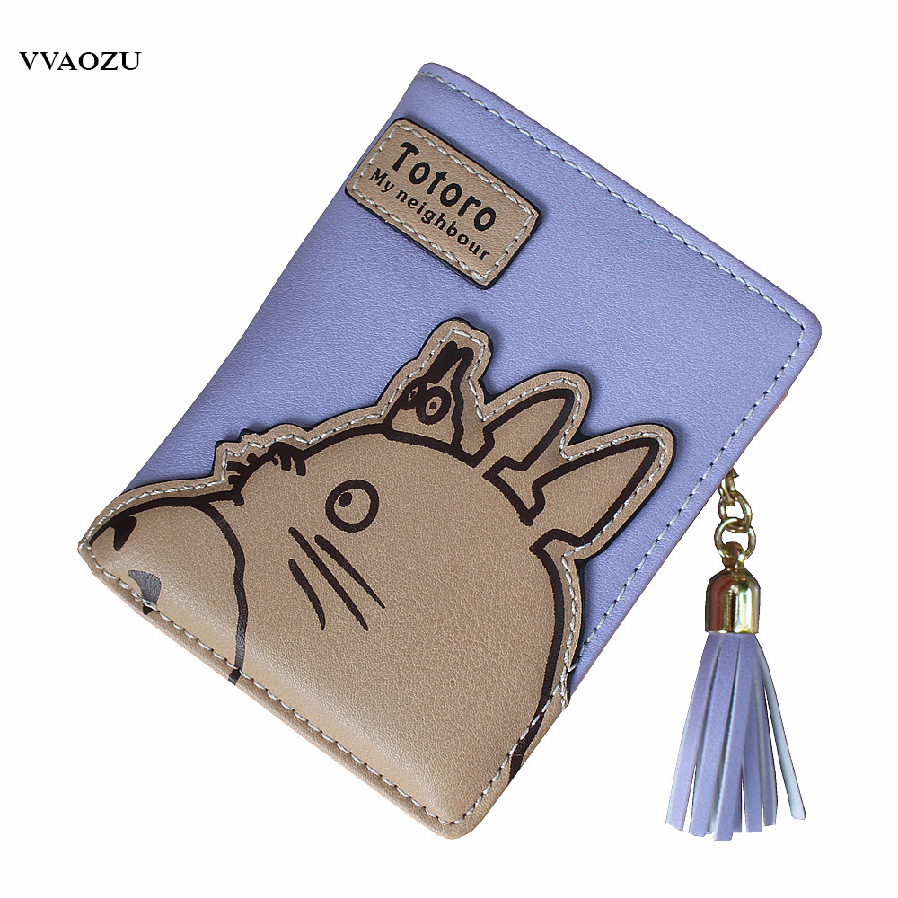 High Quality Women Wallets Totoro Design Ladies Clutch PU Leather Wallet Student Coin Purse Money Bags Long/Short Card Holder high quality 100% genuine leather women wallet ladies short wallets leather small wallet coin purse girl card holder clutch bag