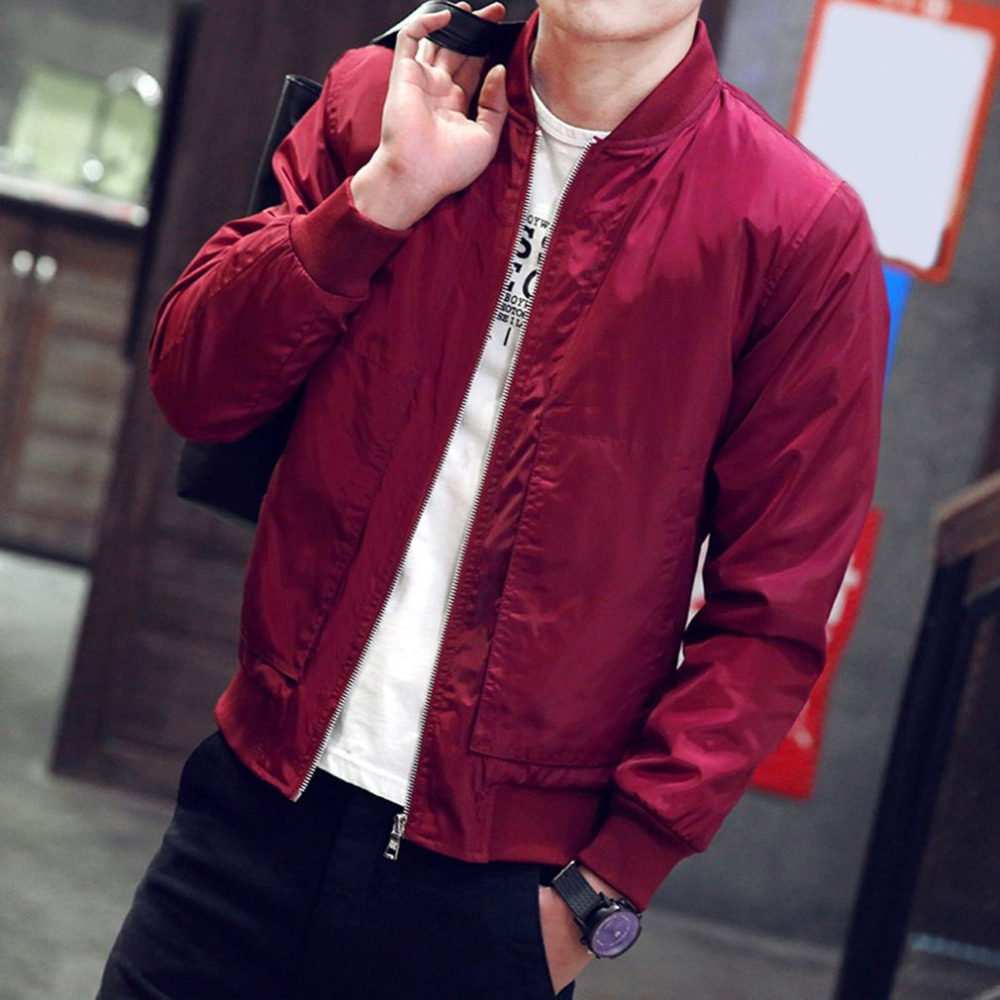 2017 New Spring Autumn Mens Jackets Thin Solid Fashion Short Coats Male Casual Slim Stand Collar Bomber Jacket Men Overcoat 4xl Spare No Cost At Any Cost Jackets Men's Clothing
