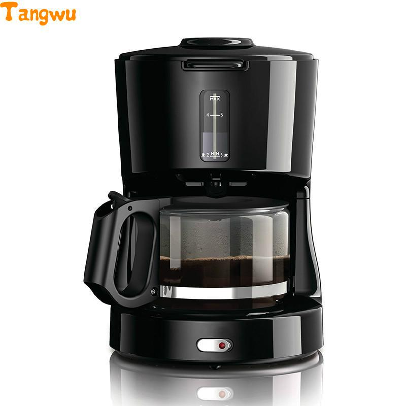 Free shipping Drip coffee machine household automatic Italian American commercial instant Coffee machine home intelligent fully automatic american style coffee machine drip type small is grinding ice cream teapot one machine
