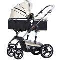 Paisaje de alta se amplió para aumentar el carro de bebé de coche de bebé puede ser sentarse puede ser tirado en el carro del bebé puede ser doblado 606