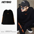 OVERSIZE loose Men Retro T-shirts Long Sleeved ss16 HEYBIG hip hop Streetwear TEEN FROM HELL youth clothing New arrivals CN SIZE