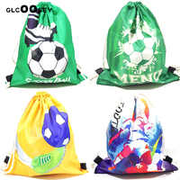 Soccer Drawstring Bundle Pocket Green Football Backpack Polyester Men Shoulder Travel Storage Bag As Boy Gift Draw String Bags