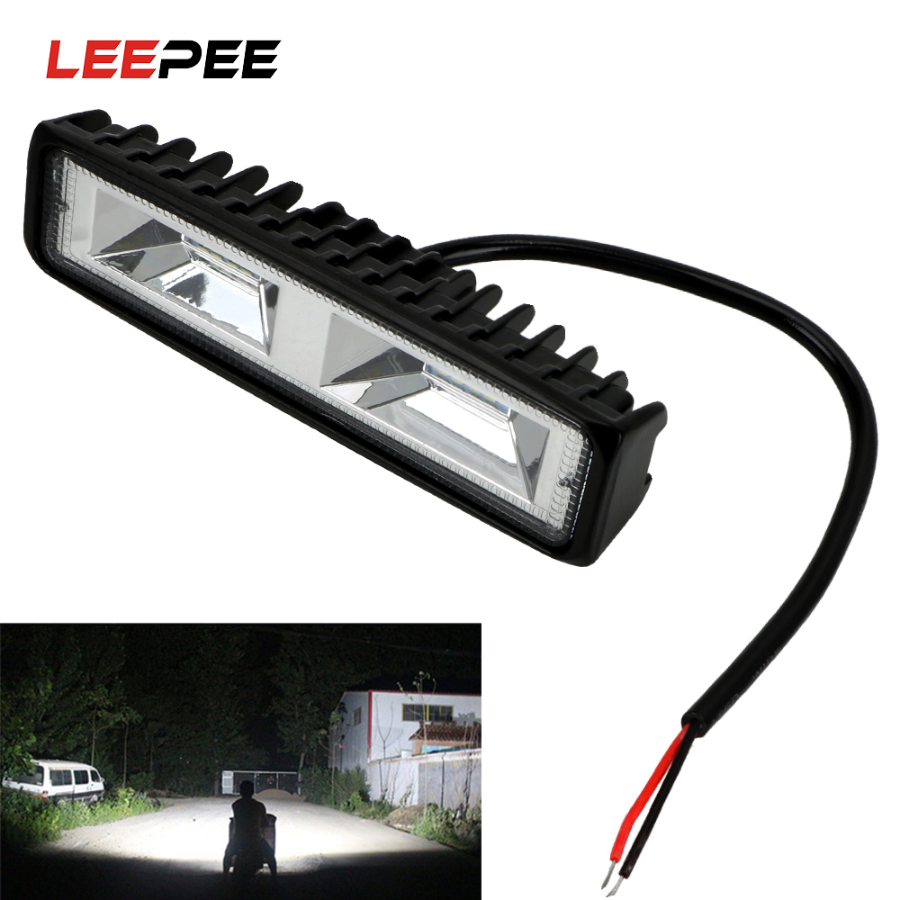 LEEPEE 12-24V Offroad Working Light LED Headlights Spotlight For Auto Motorcycle Truck Boat Tractor Trailer 36W LED Work Light