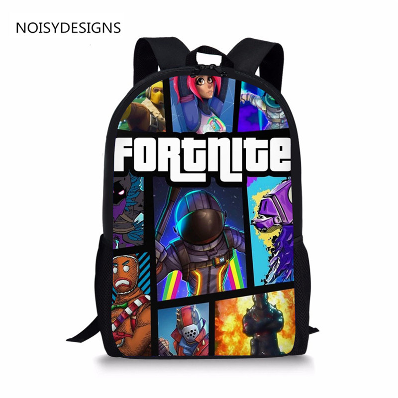 2018 Game School Bag 3D Printed Backpack for Boys & Girls Student Book bags Fashion Children Book Bag High quality pirates of the caribbean jack sparrow 3d print mens shoulder backpack skull heads student children school bags for boys book bag