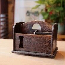 В японском стиле для хранения древесины творческий рабочего хранения мусора ожог павлония небольшой ящик для хранения дистанционного управления