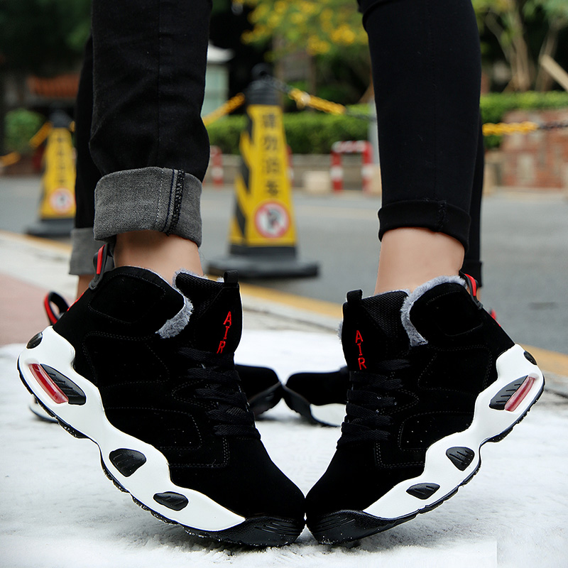 pelúcia de alta parte superior botas de tornozelo tênis de trabalho