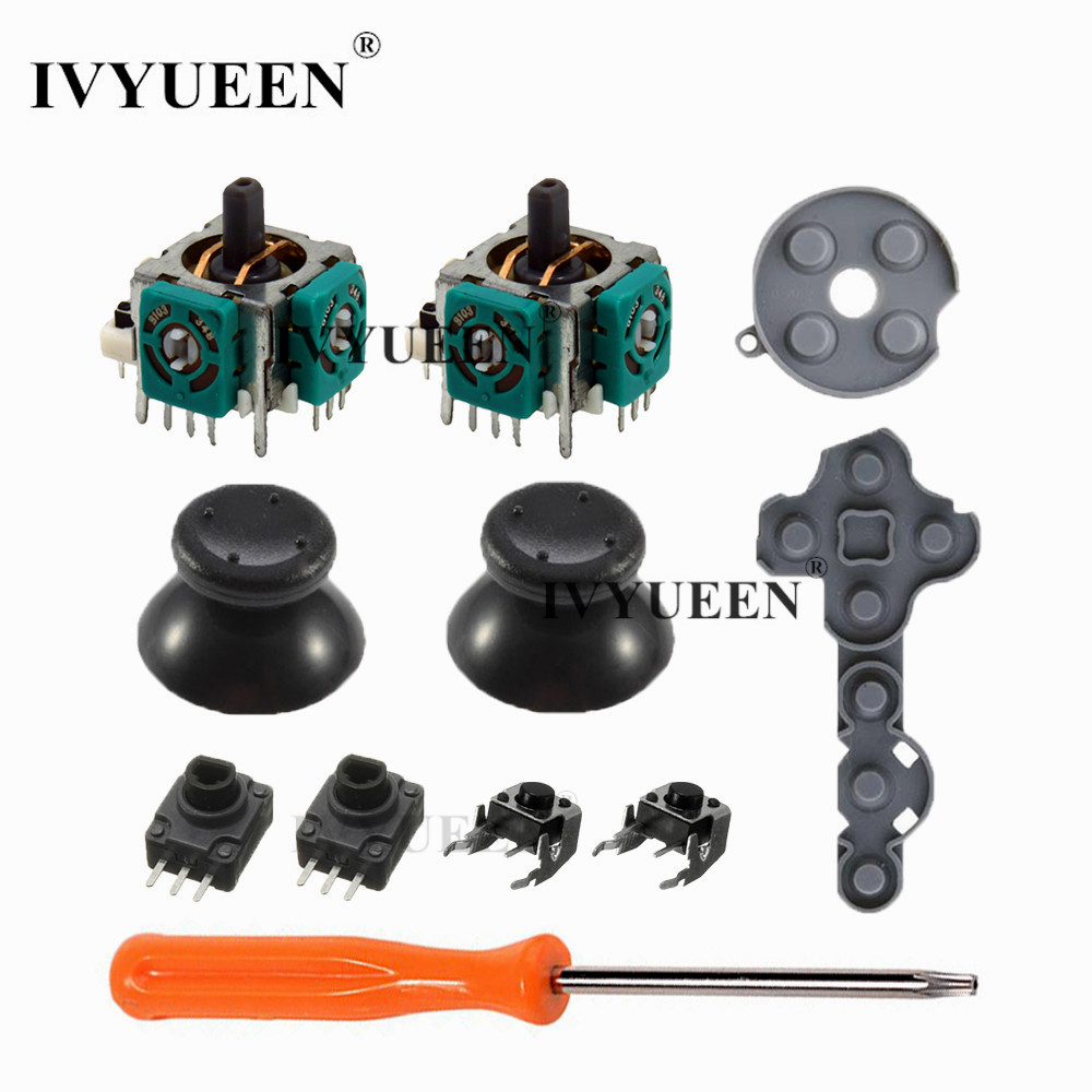 IVYUEEN 11 In 1 Analog Stick Sensor Potentiometers + Thumb Sticks LT RT Trigger Switch Button For Microsoft Xbox 360 Controller