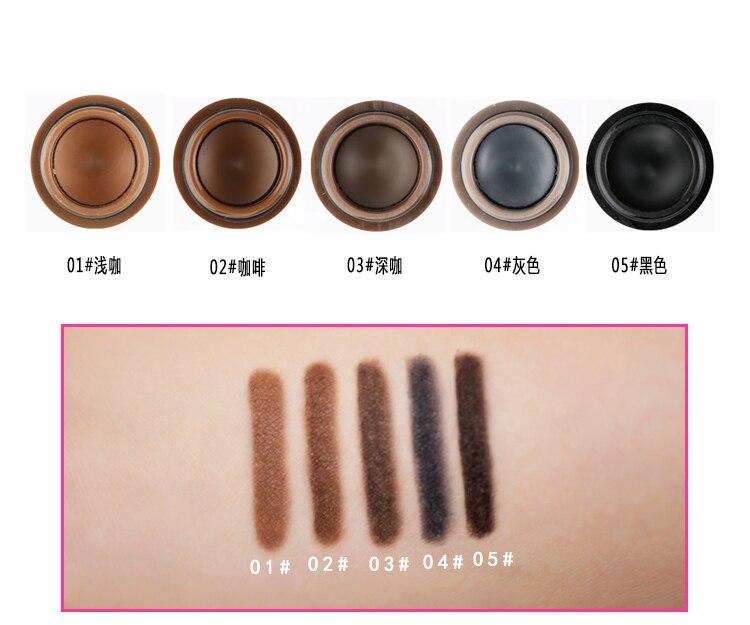 1Pcs Natural Eyebrow Enhancer Lasting Perfect Gel Crayon Sourcils Black Grey Brown Color Eyebrow Tint Gel Waterproof Cosmetics
