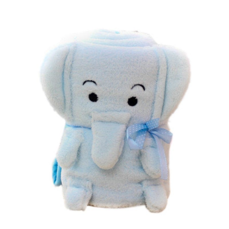 Baby Blankets Baby Bedding Winter Birthday Gift Newborn Soft Warm Coral Fleece Plush Animal Educational Plush Toy Year-End Bargain Sale