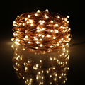 RUICHEN 5Modes 20M 200 Leds 6AA Battery Powered Warm White Led String Lights Waterproof Copper Wire Christmas Fairy lights
