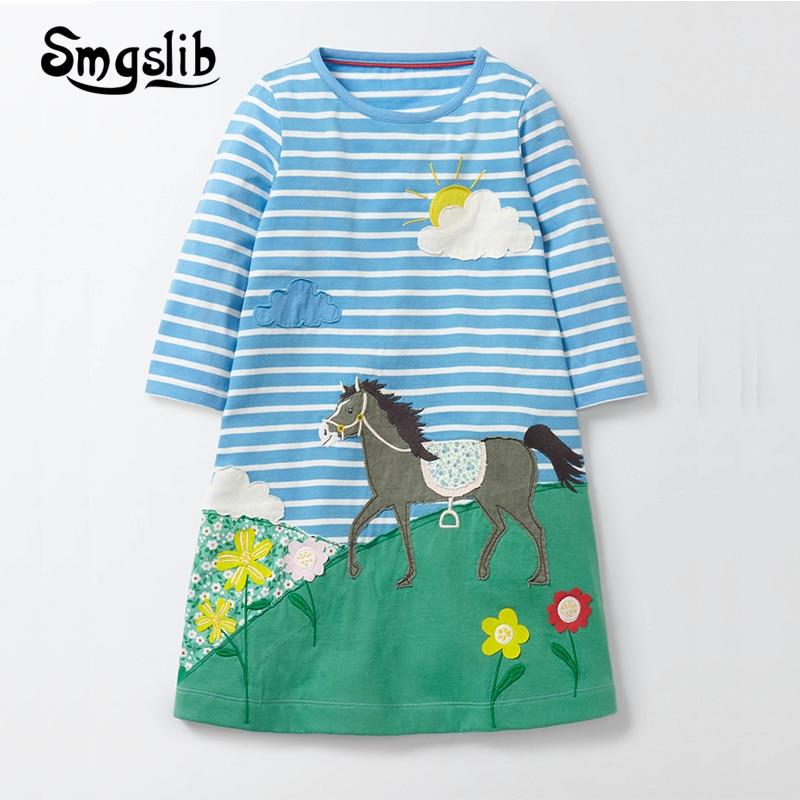 Baby Girls Unicorn Dress Long Sleeve 2018 Children