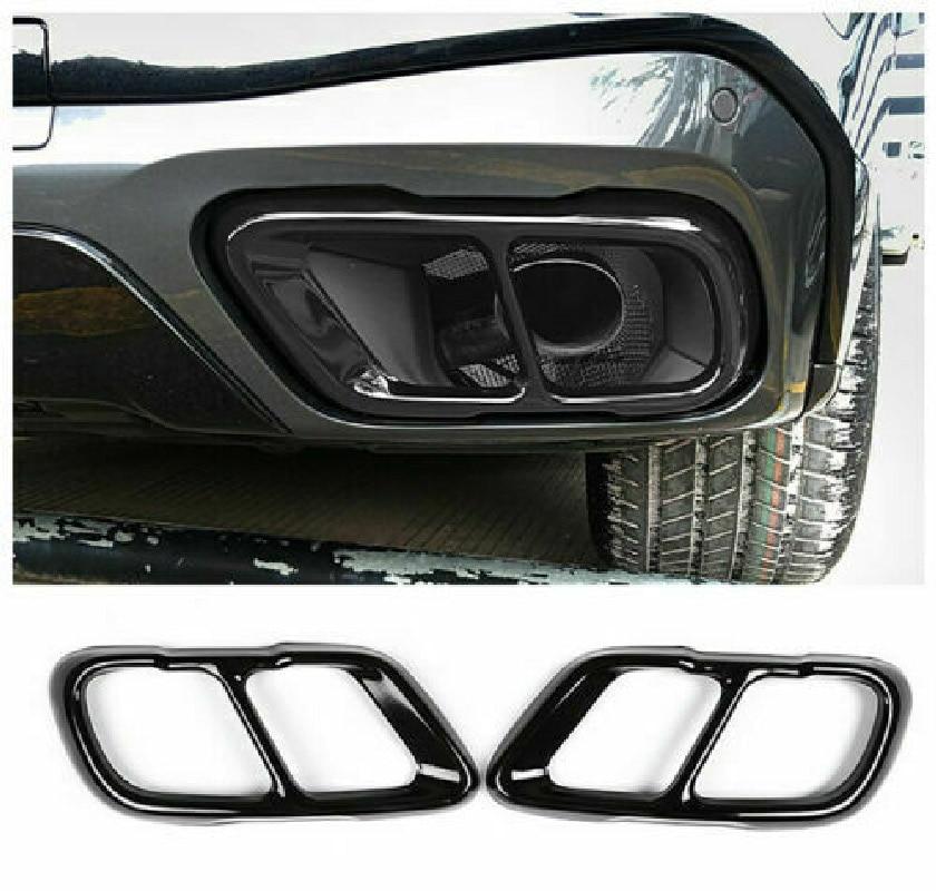 Глянцевая черная хромированная накладка на выхлопную трубу из нержавеющей стали для BMW X5 G05 X7 G07 2019