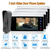 2017  7″ TFT Video Door Phone Intercom Doorbell Home Security Camera Monitor Night Vision Intercom Doorphone  ip65 Rainproof 1V4