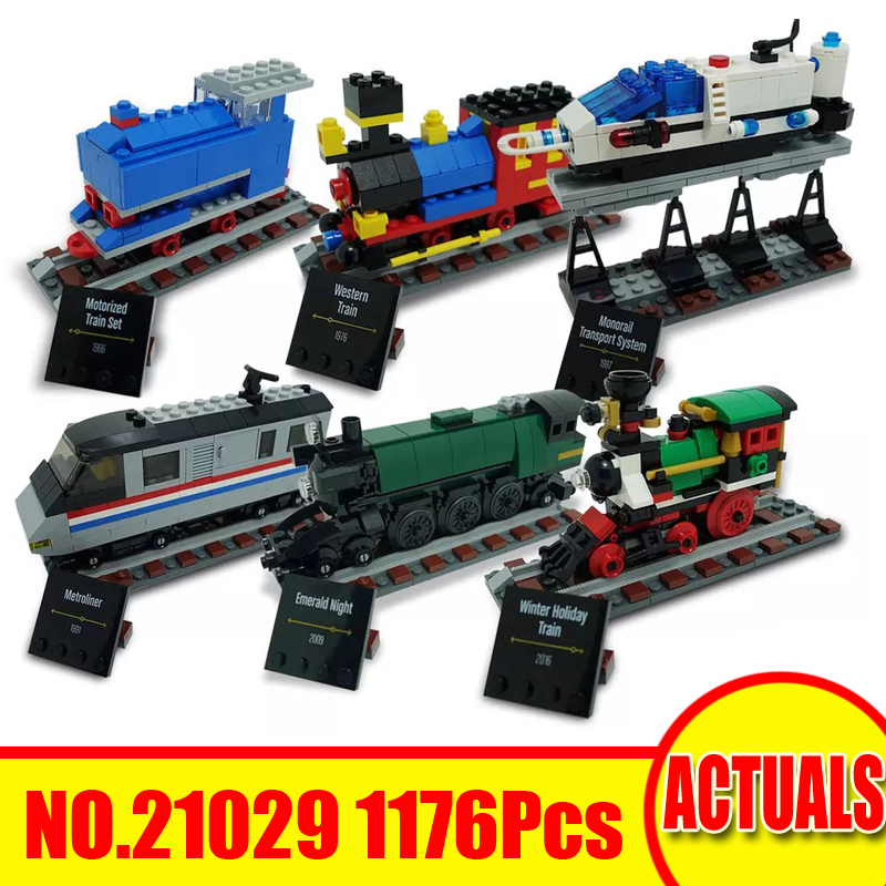 1176Pcs 21029 Lepin Technic Figures 50 Years On Track Model Kits Building Blocks Bricks Set Toys For Children Compatible 4002016 lepin 02064 404pcs city series jungle semi track car model building blocks bricks toys for children action figures