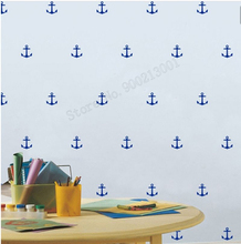 Art  Wall Sticker Anchor Pattern Wall Decoration Removeable Vinyl Art Kids Poster Small Pattern DIY Mural Beauty Modern LY185 chic romantic sentence pattern removeable wall sticker
