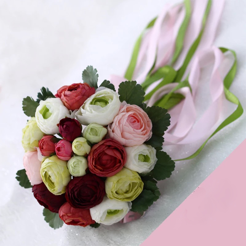 Rose Flowers Bridal Wedding Bouquets 20 Handmade Flowers Wedding - Bruiloft accessoires - Foto 4