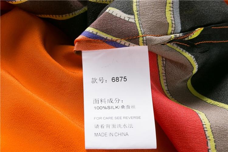 Женское платье с коротким рукавом Mifairy, оранжевое ТРАПЕЦИЕВИДНОЕ ПЛАТЬЕ с принтом, модель 110802 - 6