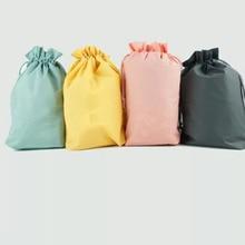 1Pc/3Pcs Waterproof Travel Cosmetic Bag Women Cosmetic Organizer Makeup Bags Wash Drawstring Bag Large Capacity Storage Toiletry