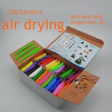 NUEVA 24 colores Super light arcilla de secado al Aire Soft Polymer Modela la Arcilla con herramientas Plastilina DIY juguetes juguetes educativos Especiales