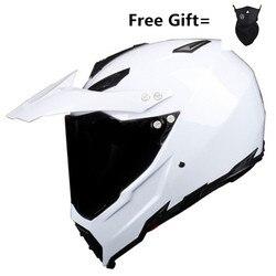 Gorąca sprzedaż off-road kaski wyścigi zjazdowe góry kask fullface moto rcycle moto cross casco casque capacete biały