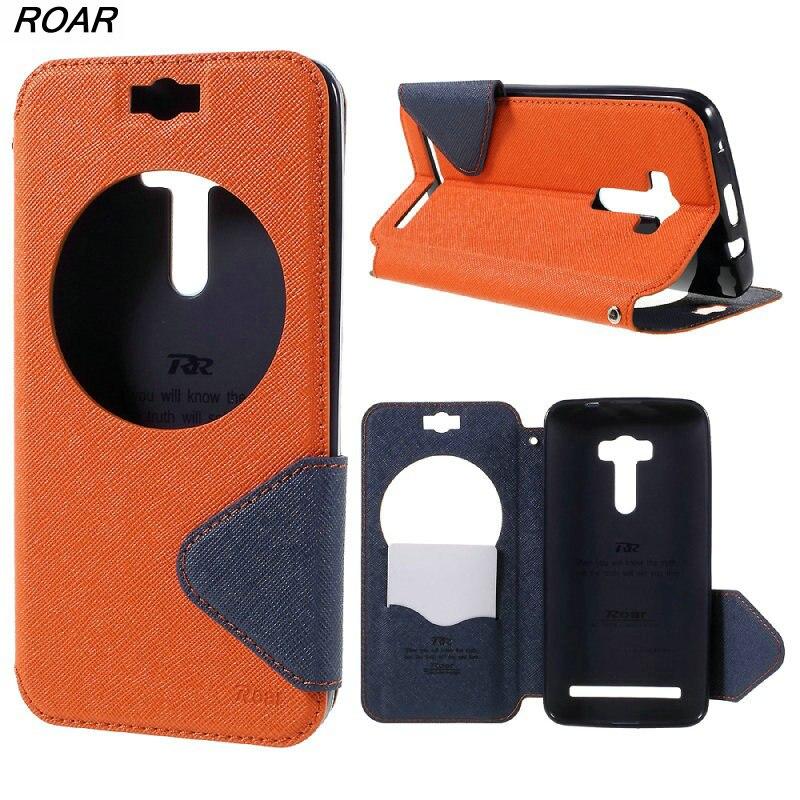 For Asus ZD551KL Original <font><b>Mobile</b></font> <font><b>Phone</b></font> Case ROAR <font><b>KOREA</b></font> Diary Window View Flip Leather Case Cover for Asus Zenfone Selfie ZD551KL
