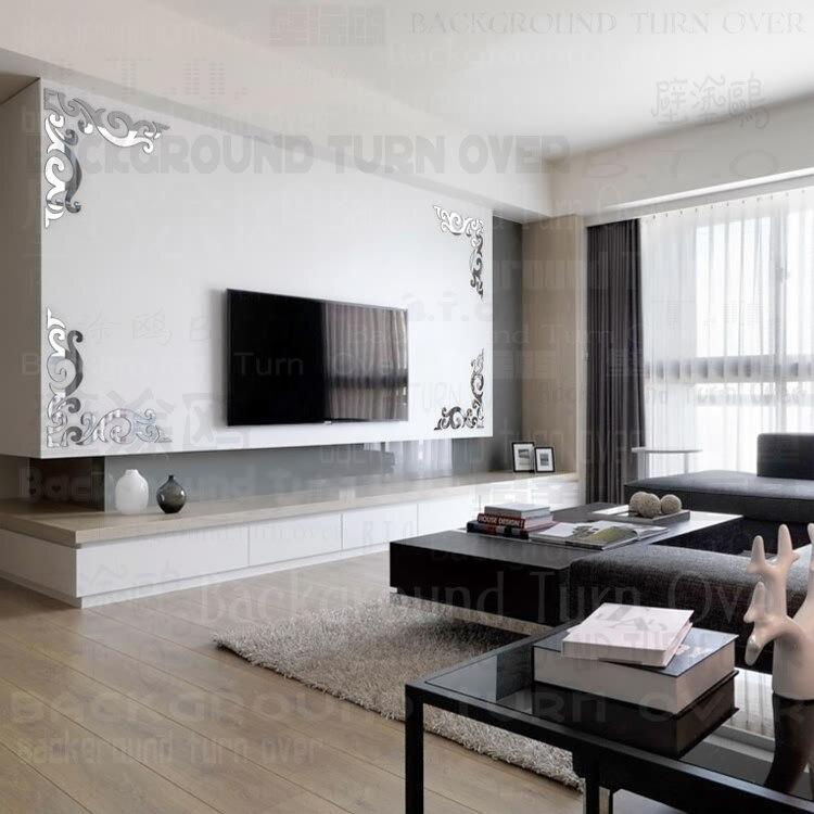 Nuevo diseño vintage diagonal patrón marco TV telón de fondo espejo ...