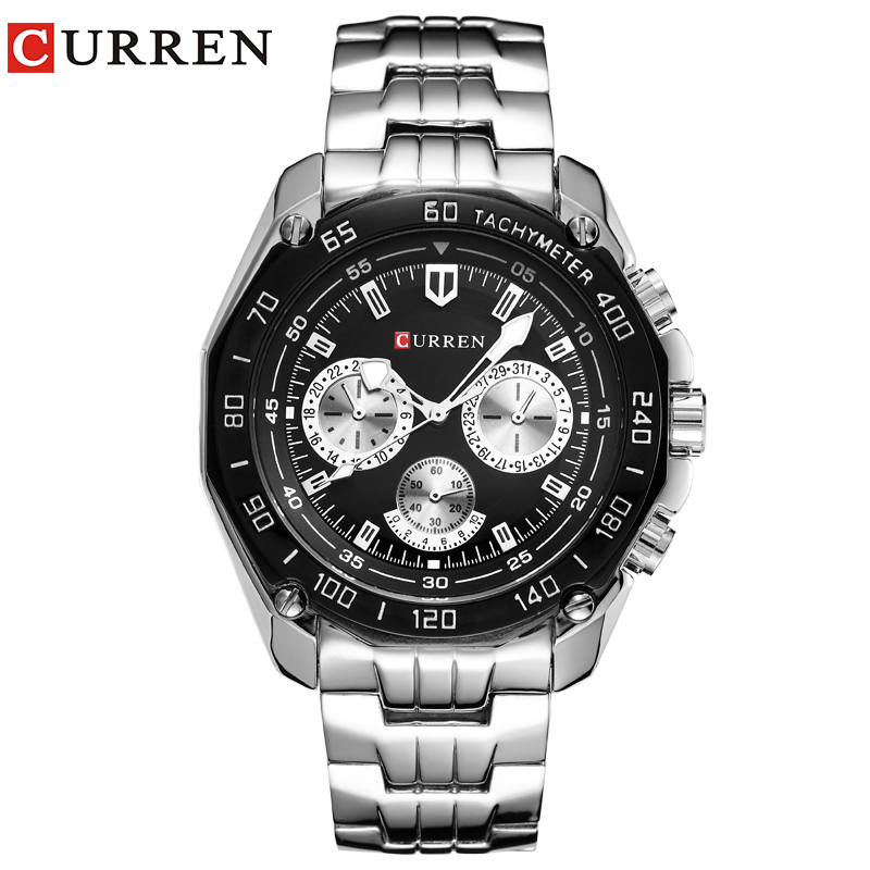 Curren horloges mannen quartzwatch relogio masculino luxe militaire horloges fashion casual water bestendig leger sports8077