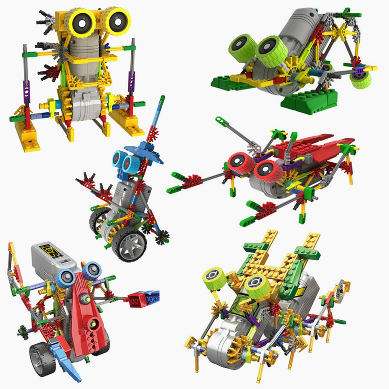 LOZ Robot Electric Building Blocks Assembly DIY Educational Dinosaur Model Toys For Children Kids Gifts 3011-3018 diy assembly puzzle metal intelligent control robot children educational toys