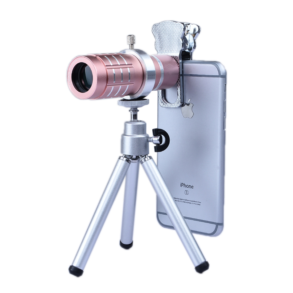 2017 Universal Clips 6in1 Phone Camera Lentes Kit 12x