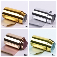 2pcs/set 50cm*4cm DIY Rose Gold Nail Art Stickers For Nails Accessoires Champagne Decoration Transfer Foil Sliders For Nails