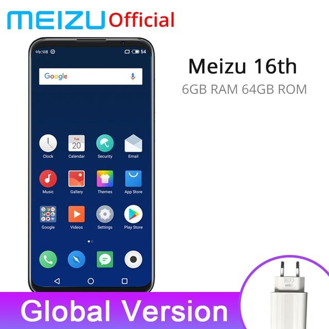 Meizu 16th Global Version 6GB 64GB Mobile Phone Snapdragon 845 Octa Core 16 th Smartphone FHD Big Screen Dual Rear Camera